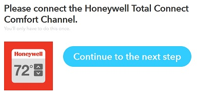 IFTTT Honeywell channel done