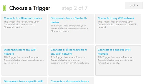 IFTTT create recipe trigger type