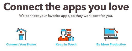 IFTTT web page