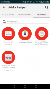DO app look for Honeywell channel