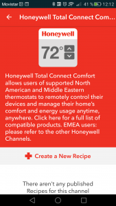 DO app Honeywell channel
