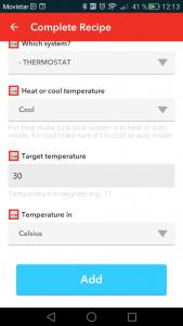 DO app new Honeywell recipe add
